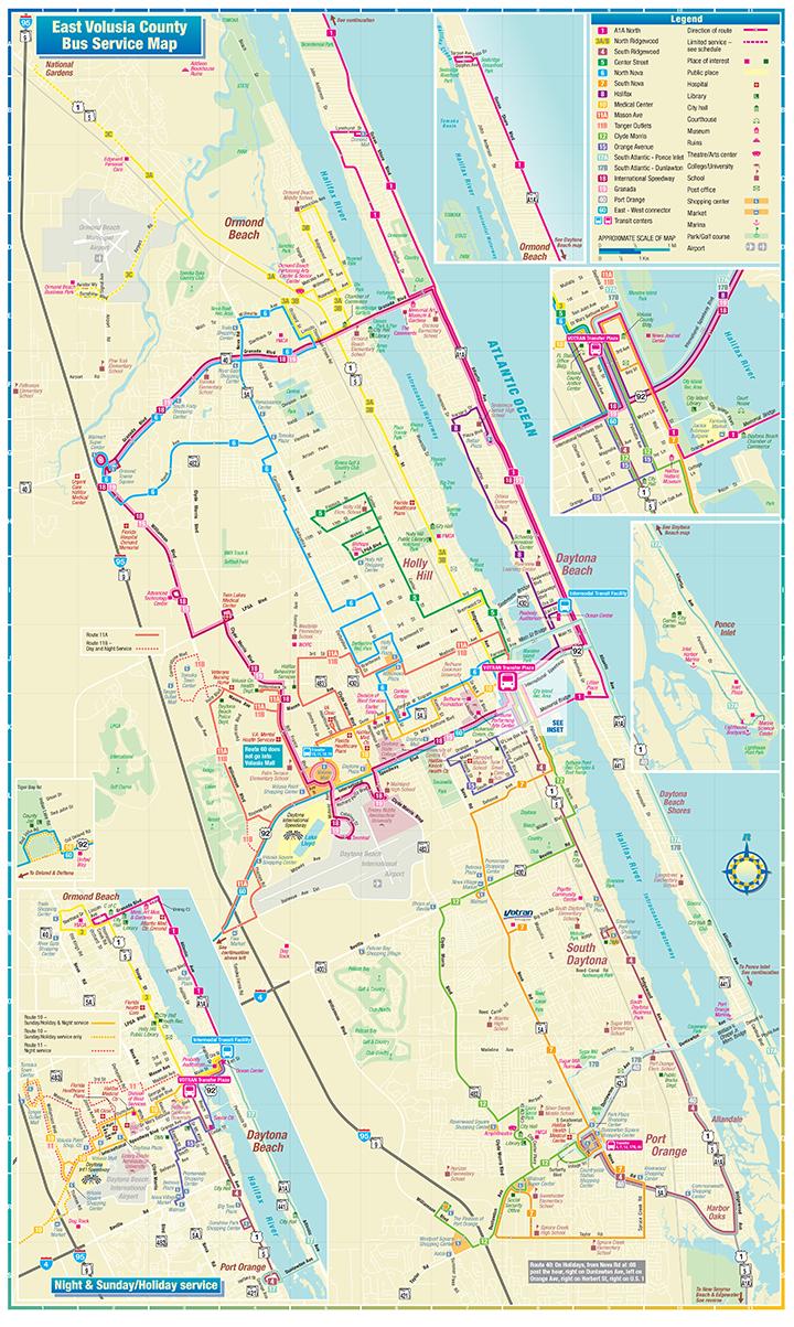 Map Of Daytona Beach Florida Daytona Beach Route Map