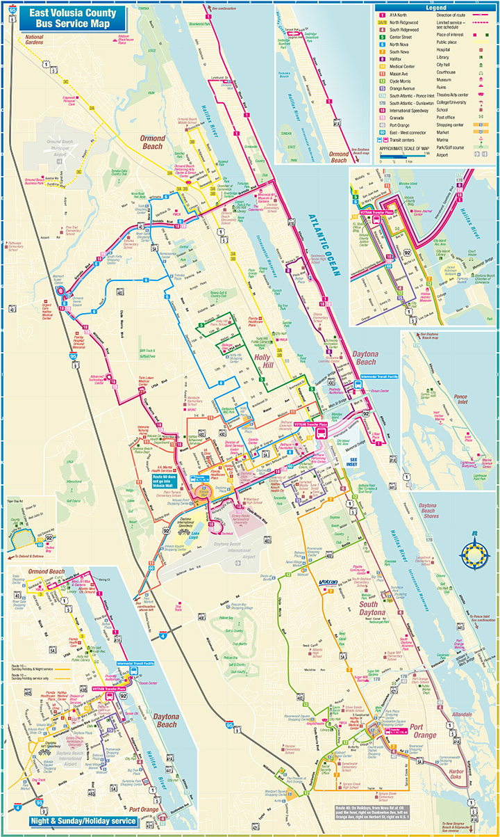 Daytona Beach Route Map