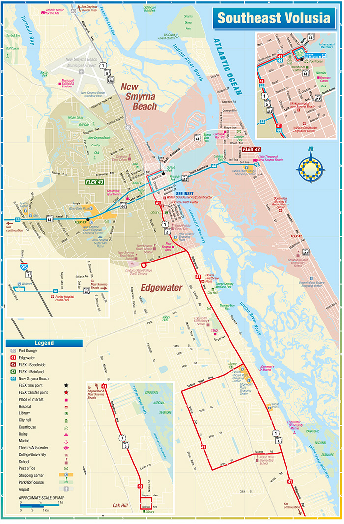 South East Volusia Route Map